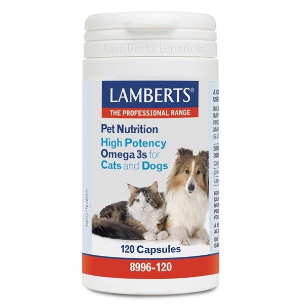 Pet nutrition (high potency omega 3s for cats and dogs) - 120 caps