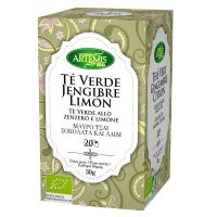 Green tea, ginger and lemon infusion - 20 sachets Artemis BIO - 1