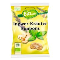 Ginger and herbs candies biodeta - 75g