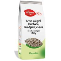 Integral rice puffed with agave and coco bio - 350 g