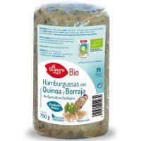 Vegetable hamburger with quinoa and borage bio (f) - 750 g
