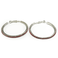 Fine red hoop earrings