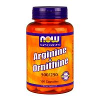 NOW Arginina / Ornitina - 100 capsule
