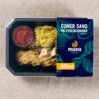 Zucchinis calabacin with chicken strips ManaFoods - 1