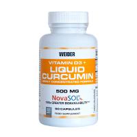 Liquid curcumin + vitamin d3 - 90 capsules Weider - 1