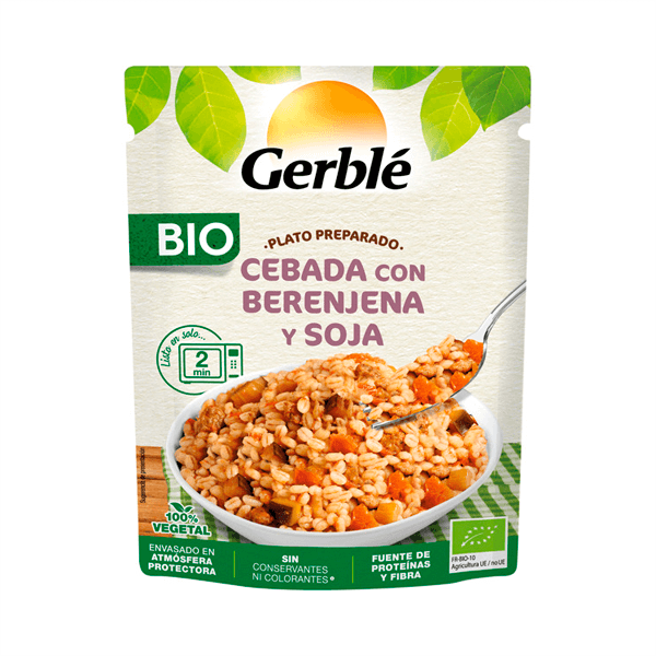 Prepared barley dish with eggplant and soy - 250g Gerblé - 1