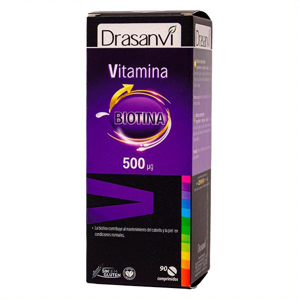 H vitamin with biotin 500mcg - 90 tablets Drasanvi - 1