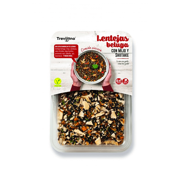 Beluga lentils with mijo and shiitake - 210g DiexFood - 1