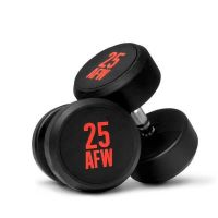 Dumbbells rubber ng - 27.5 kg AFW Strength - 1