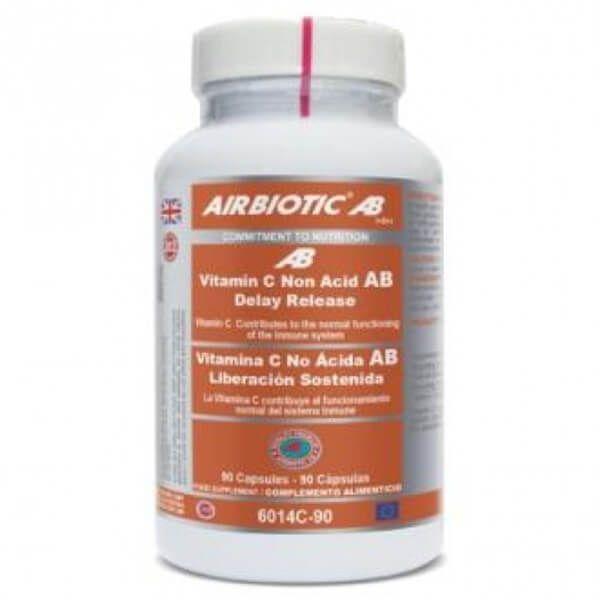 Non-acidic vitamin c sustained release - 90 capsules Airbiotic AB - 1