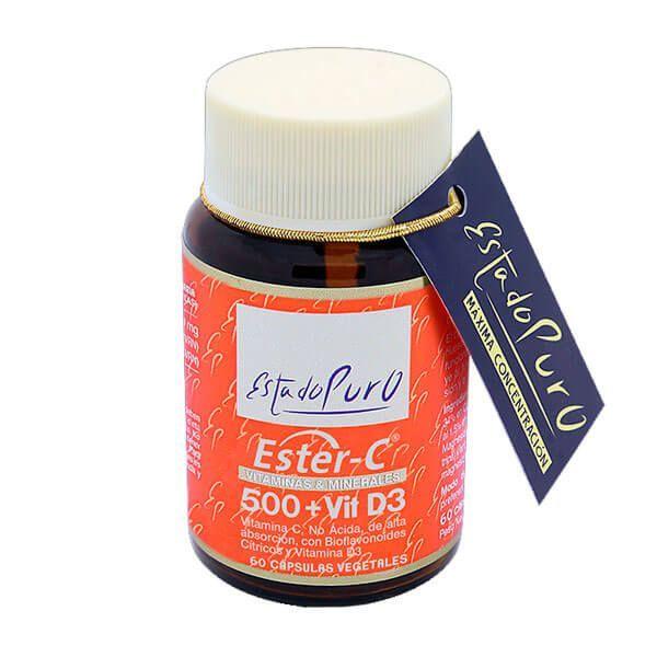 Pure state ester-c 500 + vit d3 - 60 capsules Tongil - 1