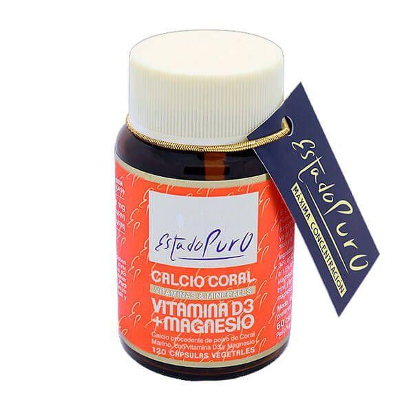Pure state coral calcium vitamin d3 + magnesium - 120 capsules Tongil - 1