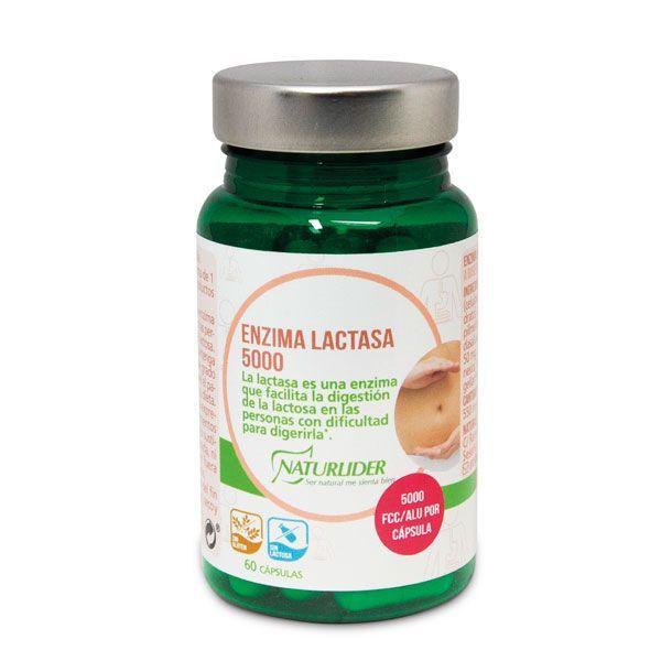 Lactase enzyme 5000 fcc - 60 capsules NaturLíder - 1