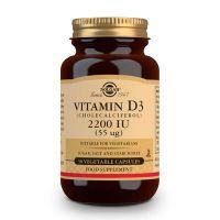 Vitamin d3 (cholecalciferol) 55mcg 2200 iu - 50 capsules Solgar - 1