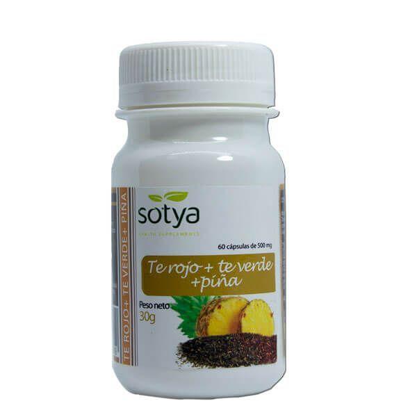 Green tea, red tea and pineapple - 60 capsules Sotya Health Supplements - 1
