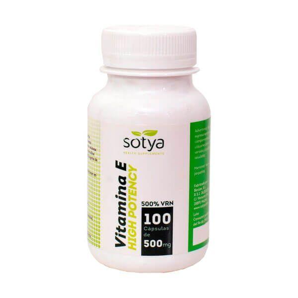 Vitamin e high potency 500mg - 100 capsules Sotya Health Supplements - 1