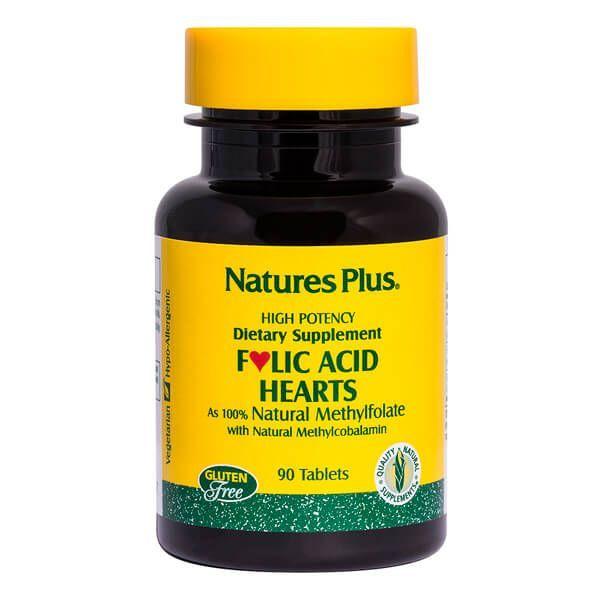Folic acid hearts - 90 tablets