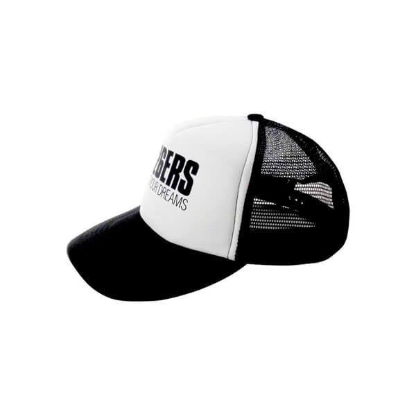 Curved printed logo cap
