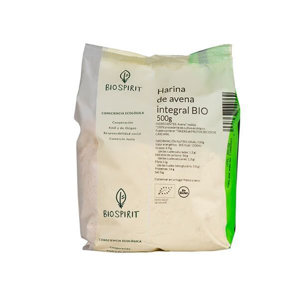 Organic whole oat flour - 500g