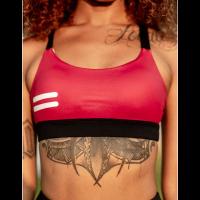 Bar layered workout bra Dark Red