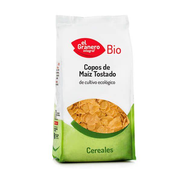 Organic roasted corn flakes - 1kg